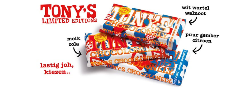 Tony's Chocolonely limitd editions 2016